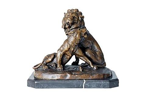 Toperkin Bronze Statues Animal Sculptures Lion Figurines Outdoor Garden Statue TPAL-153