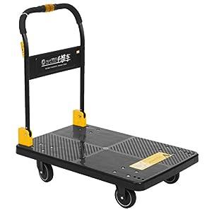 4147DwlXi1L. SS300  - N & S Plataforma carro Heavy Duty 200 kg One mano Arrugas Camiones Cart con Mute Wheels Plataforma de trolley