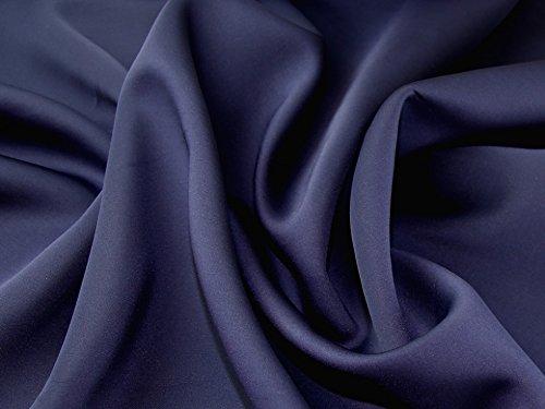 Plain Polyester & Spandex Stretch Neopren Kleid Stoff, Marineblau, Meterware