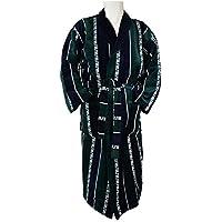 ilkadim Albornoz, bata para hombre con un precioso rayas y Versace Diseño (verde azul blanco), tamaño M y TOP calidad, 100% de algodón (velourbaumwolle), tamaño XL