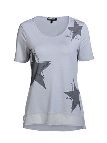 Mocca by J.L. Damen 1/2 Arm Shirt mit funkelnden Sternen Silber