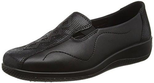 Hotter Women's Calypso Loafers, Black (Black Snake), 8 UK 43 EU
