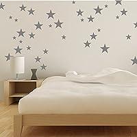 Wandaufkleber 43 Sterne Wandtattoo Wandsticker Sticker Wanddeko Kinderzimmer Schlafzimmer Himmel