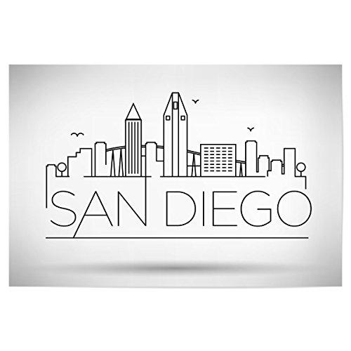 artboxONE Poster 120x80 cm Städte Minimal San Diego Skyline - Bild Minimal San Diego Skyline -