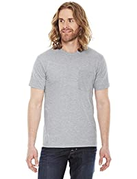 American Apparel Men's Fine Jersey Pocket Short Sleeve T-Shirt