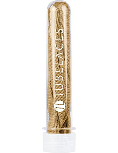 TubeLaces White Flat Schnürsenkel Schnürsenkel Braun (Wheat)