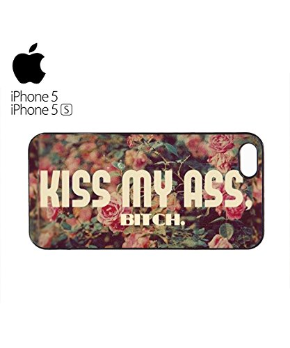 Kiss My As* B*tch Flowers Mobile Phone Case Cover iPhone 6 Plus + White Blanc