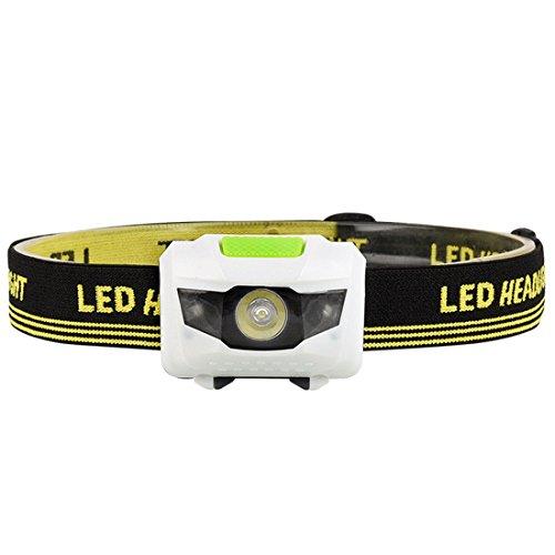 Luwu-Store Wasserdichte 4 Modi Scheinwerfer LED Scheinwerfer Taschenlampe Weiß + Rotlicht Kopf Lampe Taschenlampe Verwenden für Angeln Reiten Radfahren