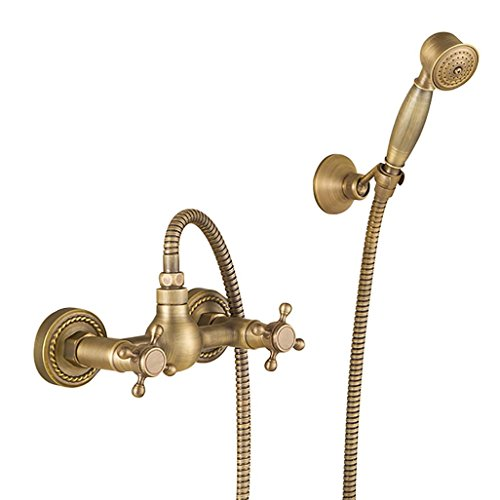PLYY Dusche-Set Badezimmer Wand-Mischbatterie Wasserhahn Zeitgenössisch Messing