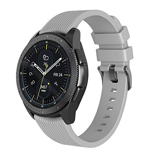 NotoCity Kompatibel Armband Galaxy Watch (42mm) Ersatz Silikon Uhrenarmband für Gear S2 Classic R732/Gear Sport Watch/Vivoactive 3 Großes Armband
