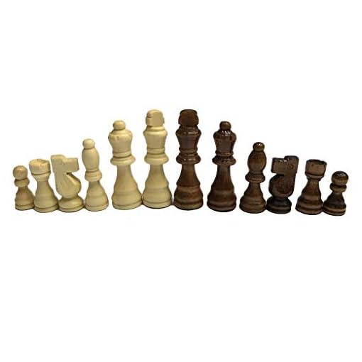 Holz-Schach-Set-77cm-Knig-32-Schachfiguren-Figuren-Pawns-Erwachsene-Kinder-Turnier-Spiel-Spielzeug