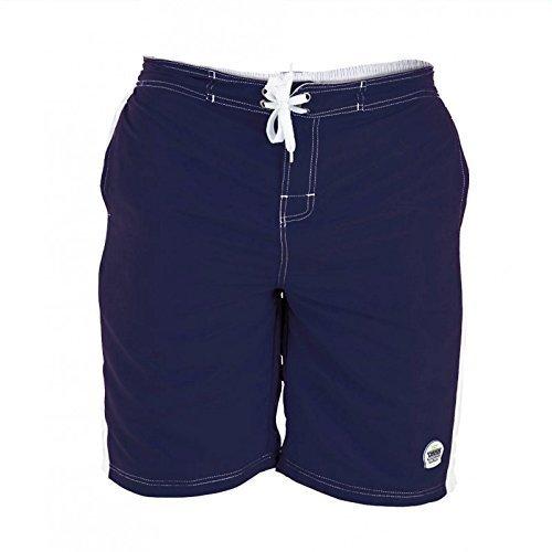 Duke D555 Grand Haut King Size Hommes Natation Trunks Shorts De Surf Bleu Marine