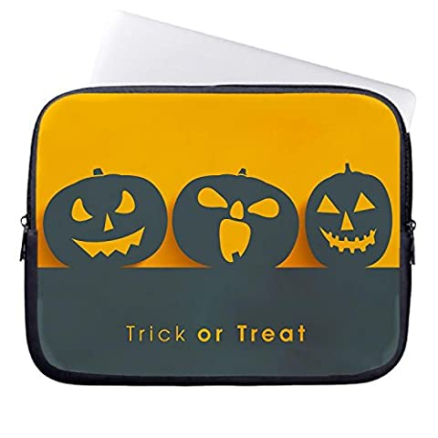hugpillows Laptop Hülle/Tasche Happy Halloween Kürbis Notebook Sleeve Cases mit Reißverschluss für MacBook Air 15 zoll