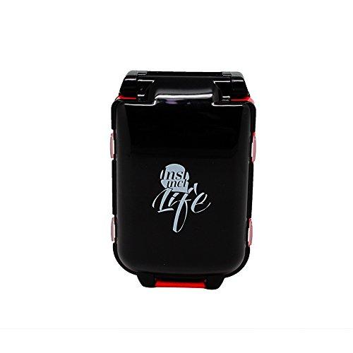 xiduobao Pille Veranstalter Box Weekly Case, Premium Design-große Kapazität Mini Reise Pillendose Tablettenbox Fällen Drug Medizin Pille Box Case Organizer schwarz