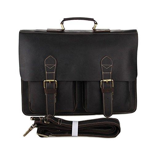c3c506f83eba6 FRAZILL Herren Leder Aktentasche Herren Handtaschen Herren Umhängetasche  Herren Laptop Tasche Hohe Qualität JM7105 Kaffee Dunkel Braun