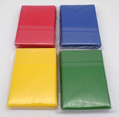 docsmagic.de 4 x 60 Mat Card Sleeves Small Size 62 x 89 - Blue Green Red Yellow - YU-Gi-Oh! Cardfight - Mini Pochettes