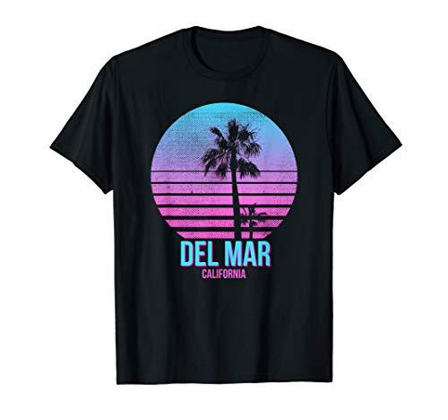 Del Mar California Vintage Retro Palm Tree Beach T-Shirt