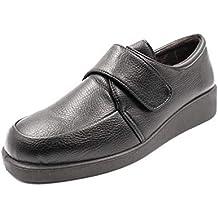 Zapato Mujer en Polipiel de la Marca DOCTOR CUTILLAS, con velcros, cuña 4cm -