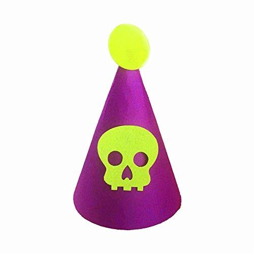 ty Halloween Kinder Filz Schirmmütze Hat Club Party Dekoration Fancy Tragen Prop-Violett, Violett, Einheitsgröße ()