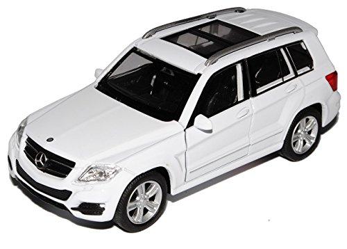 Preisvergleich Produktbild Mercedes-Benz GLK SUV X204 Weiss Ab 2008 Vor Facelift 2012 ca 1 / 43 1 / 36-1 / 46 Welly Modell Auto mit individiuellem Wunschkennzeichen