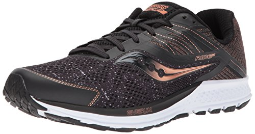 Saucony Ride 10, Scarpe da Corsa Uomo, Nero (Black/Denim/Copper 000), 42.5 EU