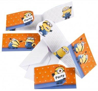 Minions Einladungskarten mit Umschlag, 6 Stück (Party-einladungen Geburtstag Minion)