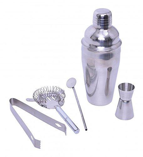 5-tlg. Cocktail Set - Edelstahl - Longdrinks - Cocktail - Mixer - Shaker - Mixgetränk - Cocktail Mixer
