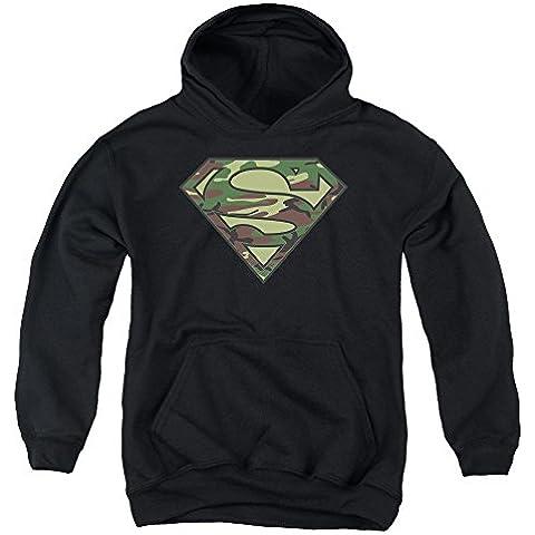 Superman - - Logotipo de Camo para jóvenes Sudadera con capucha