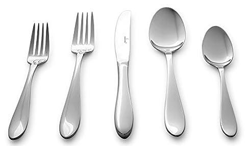 Culina Lorena Flatware for 4 18/10 Stainless Steel Silverware 20pcs, Mirror Finish