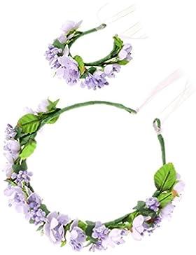 HanLuckyStars Romantica Diadema Corona Flores para Cabello Garland Halo Accesorios para el cabello Elegante Decoradas...
