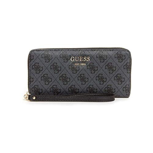Guess - Geldbörse VIKKY SLG Large Zip Around coal, SG699546