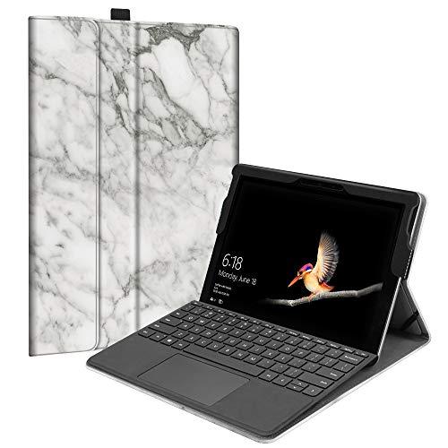 Fintie Microsoft Surface Go Hülle - [Multi-Sichtwinkel] Hochwertige Kunstleder Schutzhülle Tasche Etui Cover Case mit Stylus-Halterung für Surface Go (10 Zoll) 2018 Tablet-PC, Marmor Muster