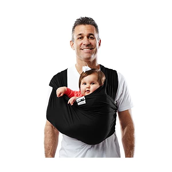 Baby K'Tan Baby Cotton Carrier (Large, Black) Baby Ktan Easy to use and put on: NO WRAPPING INVOLVED.  6 positions to conveniently carry baby & toddlers from 8 lbs to 35 lbs 100% soft natural cotton with unique one-way stretch Unique HYBRID double-loop design holds baby securely and evenly distributes weight across back and both shoulders. Washer & dryer safe 5