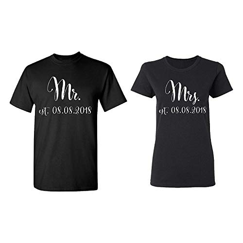 509ad745 Jackgold Honey Mr. - Mrs. Personalized Couple Matching Shirts Married Custom  Valentines Day