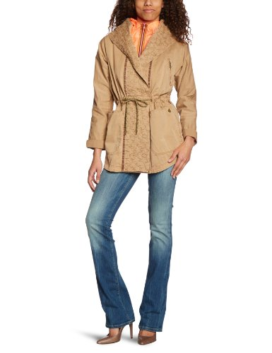 Scotch & Soda Maison Damen Jacke 13210210829 - 2in1: twill GD parka with inner nylon jk, Gr. 36 (1), Mehrfarbig (06 - sand)