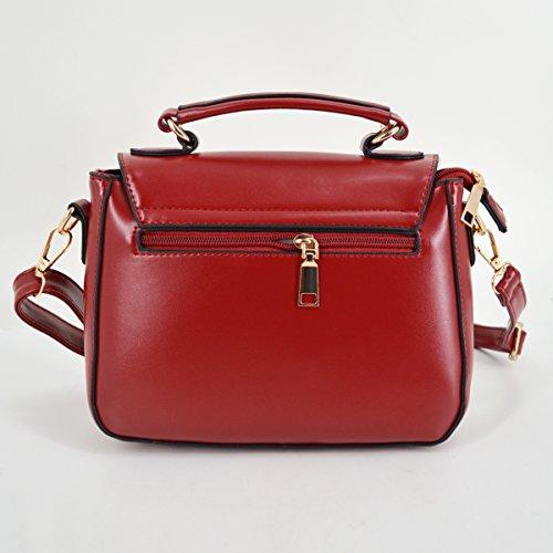 Milya Ladies Retro Wild Small Square Bags Borsa A Spalla Borsa A Tracolla Messenger Bag Nero Vino Rosso