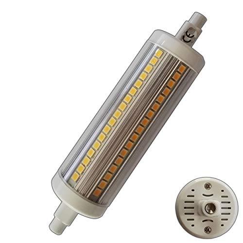 R7s LED Strahler 15 Watt rund warmweiß 118mm Leuchtmittel Lampe Halogen j118 Fluter Brenner Scheinwerfer Flutlicht
