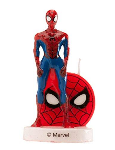 den Spiderman-Kuchenzubehör rot-blau 6cm ()