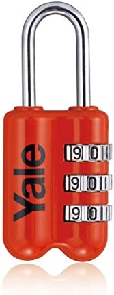 Yale YP2/23/128/1R Travel Padlock Red, Suitable for Travel Bags