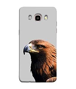 PrintVisa Designer Back Case Cover for Samsung Galaxy On8 Sm-J710Fn/Df (Brown Eagle nature animated bird)