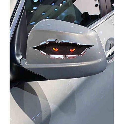 r 11 * 43Cm Cute 3D Cat Eye Car Sticker Car Shape Vinyl Decal Sticker Car Accessories Decoration ()