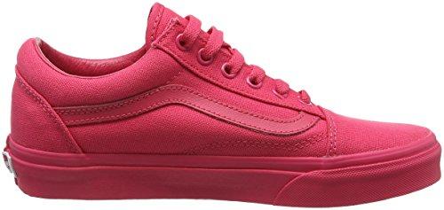 Vans Old Skool, Sneakers Basses Mixte Adulte Rouge (mlx)