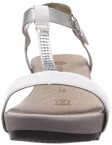 Remonte  R5752, Sandales pour femme Blanc - Weiß (weiss/silver/argento 80)