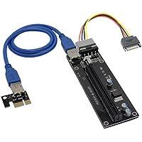 PCI-E 1X a 16X Riser card cavo di estensione USB 3.0con alimentatore SATA a 4pin IDE Molex Per minerario Bitcoin Litecoin - Flex Riser
