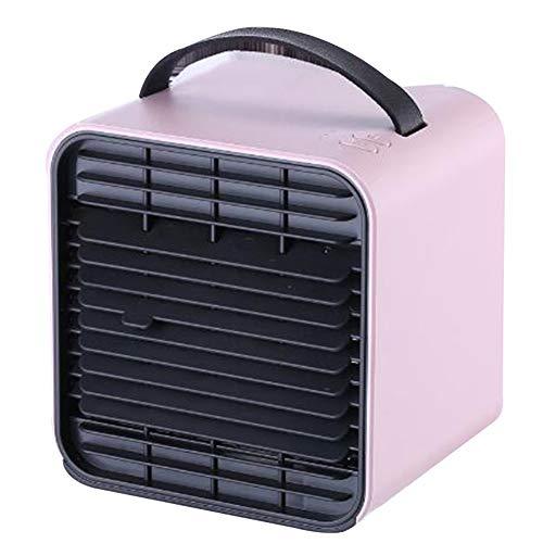 Y-LengF Mini Luftkühler Luftkühler Klimaanlage Tragbar Lufterfrischer | Lüfter Klimaanlage 3 Leistungsstufe 7 Stimmungslicht Büro,Pink