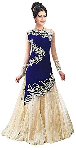 Navabi Export Women's Bhagalpuri Printed Stylish Long Lehengas (Yellow Colour)