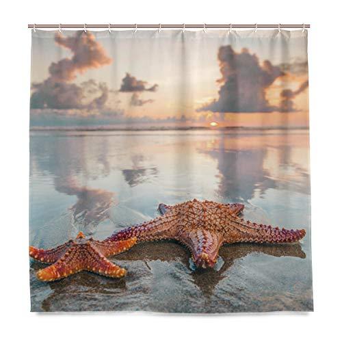 vinlin Sea Beach Seestern Wasserdicht Badezimmer Zubehör Vorhang für die Dusche Badewanne Vorhang 182,9x 182,9cm