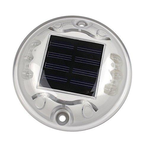 Solar Percorso Bianco Outdoor Strada Vialetto Dock 6-LED luce della