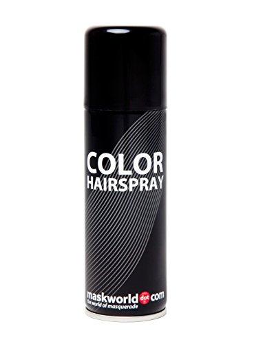Maskworld Color Hairspray - Farbiges Haarspray Bunt Colorspray (Schwarz)