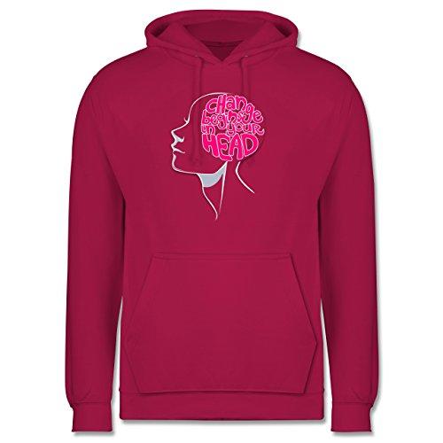 Statement Shirts - Change begins in your head - Männer Premium Kapuzenpullover / Hoodie Fuchsia